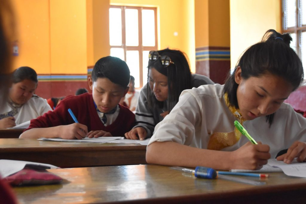 SMD school students write final exams