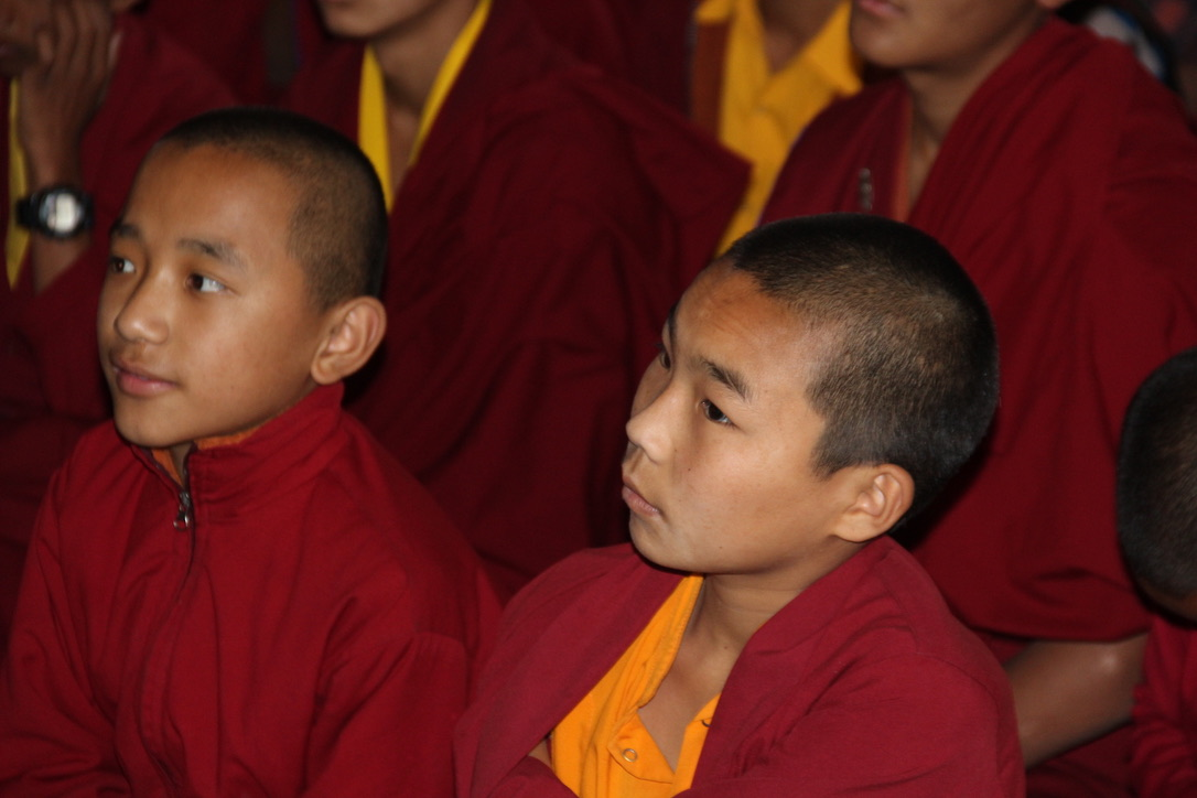 Young monks at SMD School during COVID-19